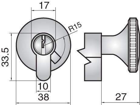 FP521 - Single cylinder with large round turn