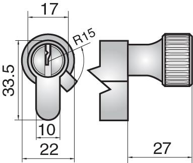 FP524 - Single cylinder with small round turn