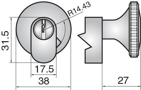 FP531 - Single cylinder with large round turn