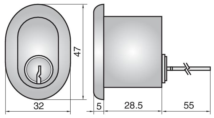 P607 - Single Rim Cylinder (Outside)