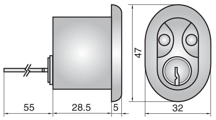 P3607 - Single Rim Cylinder (Inside)
