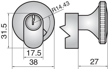 4831 - Single cylinder with large round turn