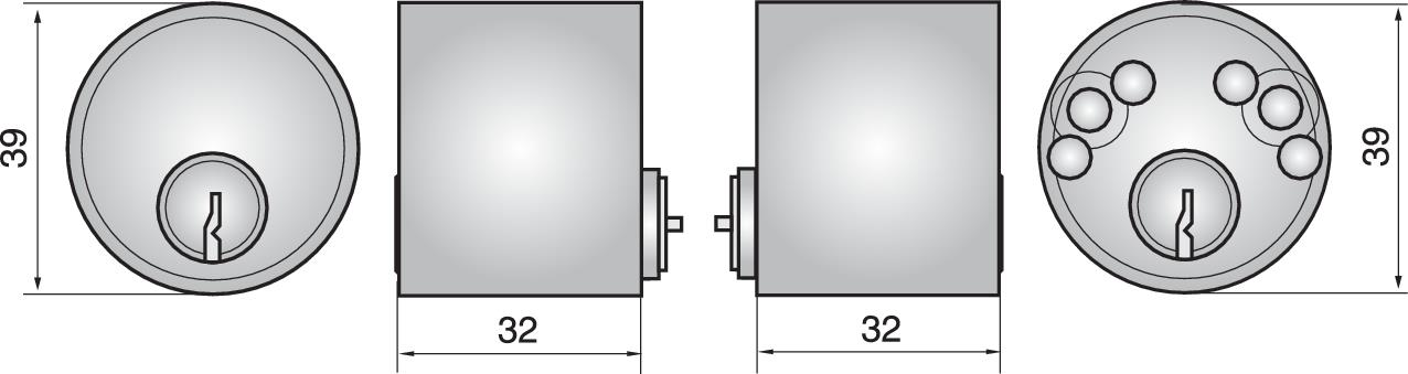 B4412 - Double cylinder