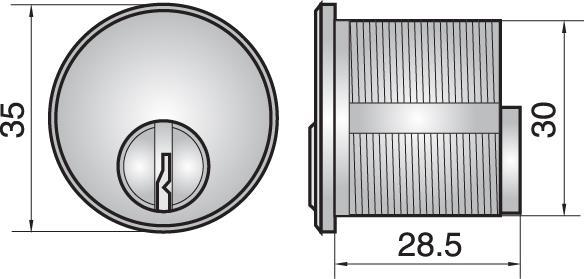 FP551 - Single mortice cylinder
