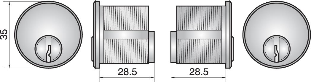 FP552 - Double mortice cylinder