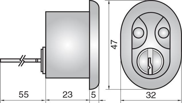 FP3507 - Single rim cylinder (inside)