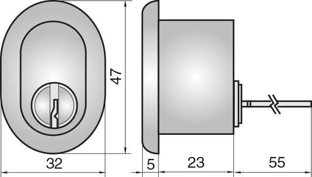 FP507 - Single rim cylinder (outside)
