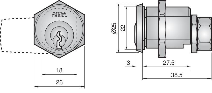 C5870 - Cam lock
