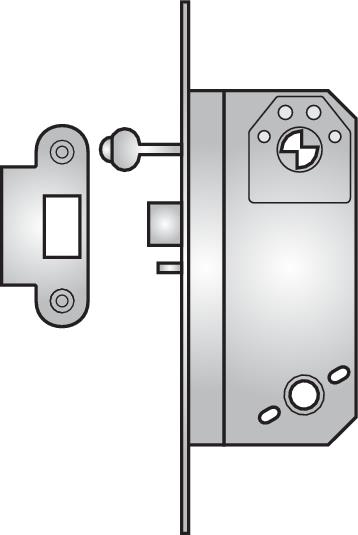 5785 - 5785 nightlatch with key lock-back