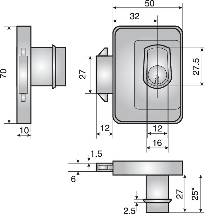 674.2 cabinet sliding door lock - 674.2 cabinet sliding door lock