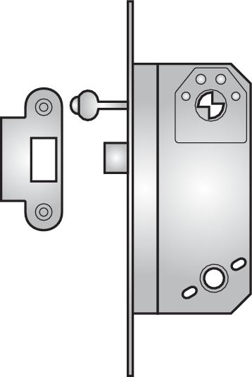 6780 - 6780 nightlatch with key lock-back, non-deadlocking