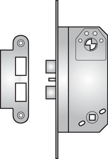 500/4 - 500/4 double nightlatch with snib lock-back