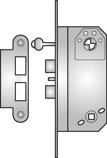 762 double nightlatch with key lock-back - 762 double nightlatch with key lock-back