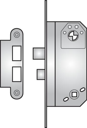 9565T - 9565T Modular toilet lock with flip-up handle