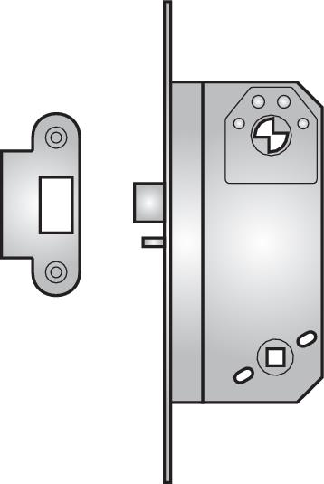 8761 - 8761 nightlatch without lock-back