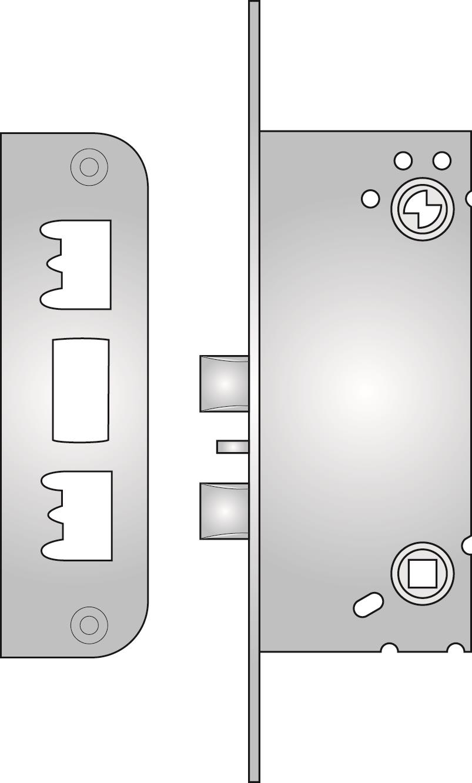 220 - 220 double nightlatch with snib lock-back
