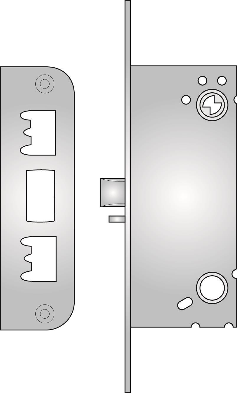 230 - 230 nightlatch with snib lock-back