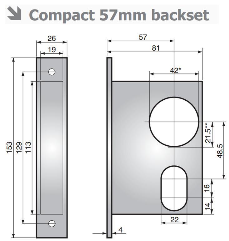 3061 - 3061 nightlatch without lock-back