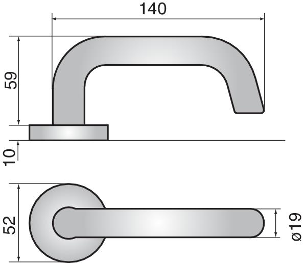 1325 - 1325 lever handle