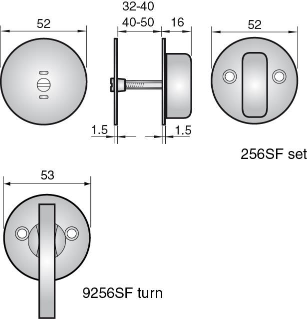 ACCTHUMBSF - Thumbturn set