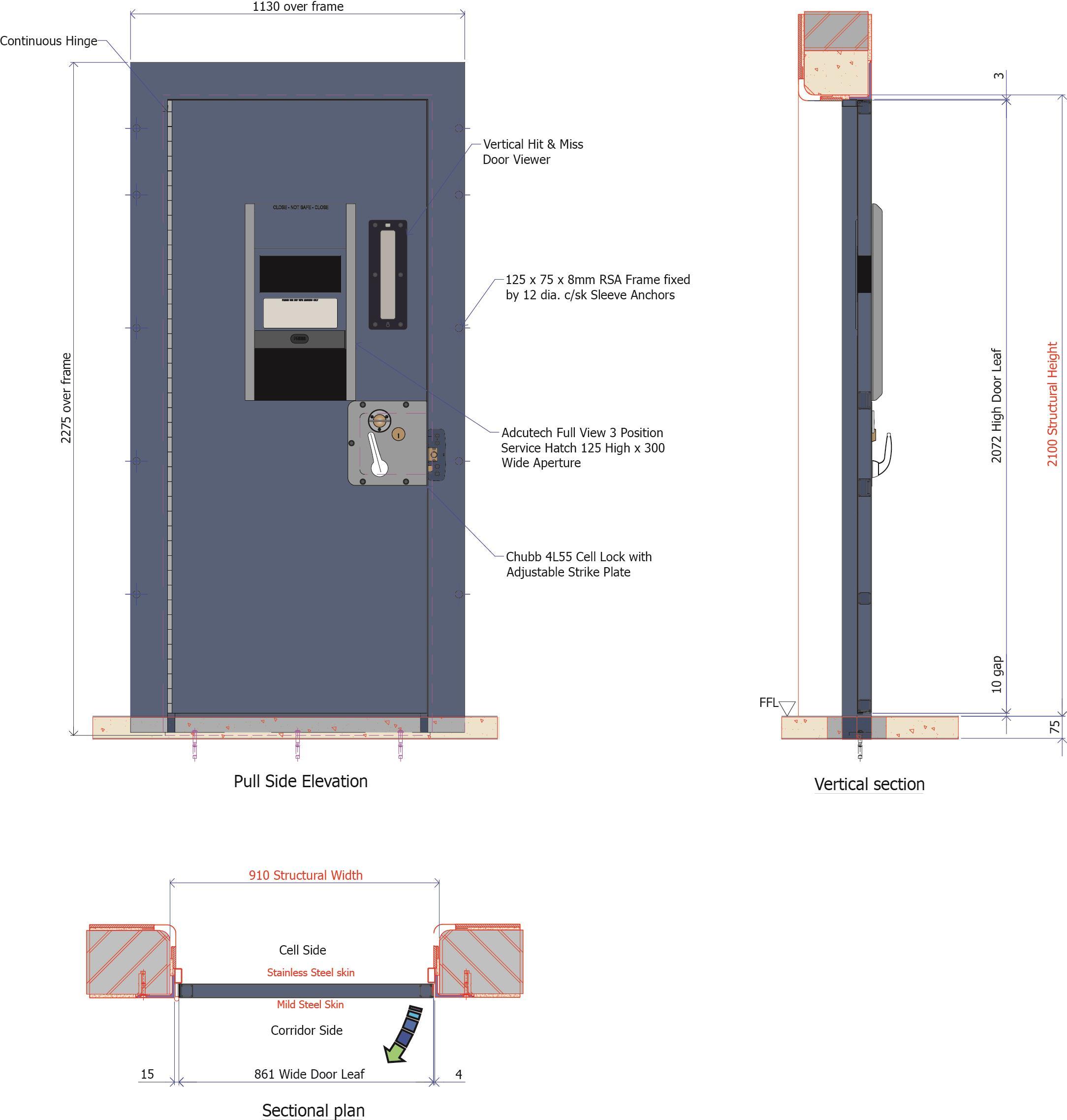 Custodial doors, gates, grilles & windows