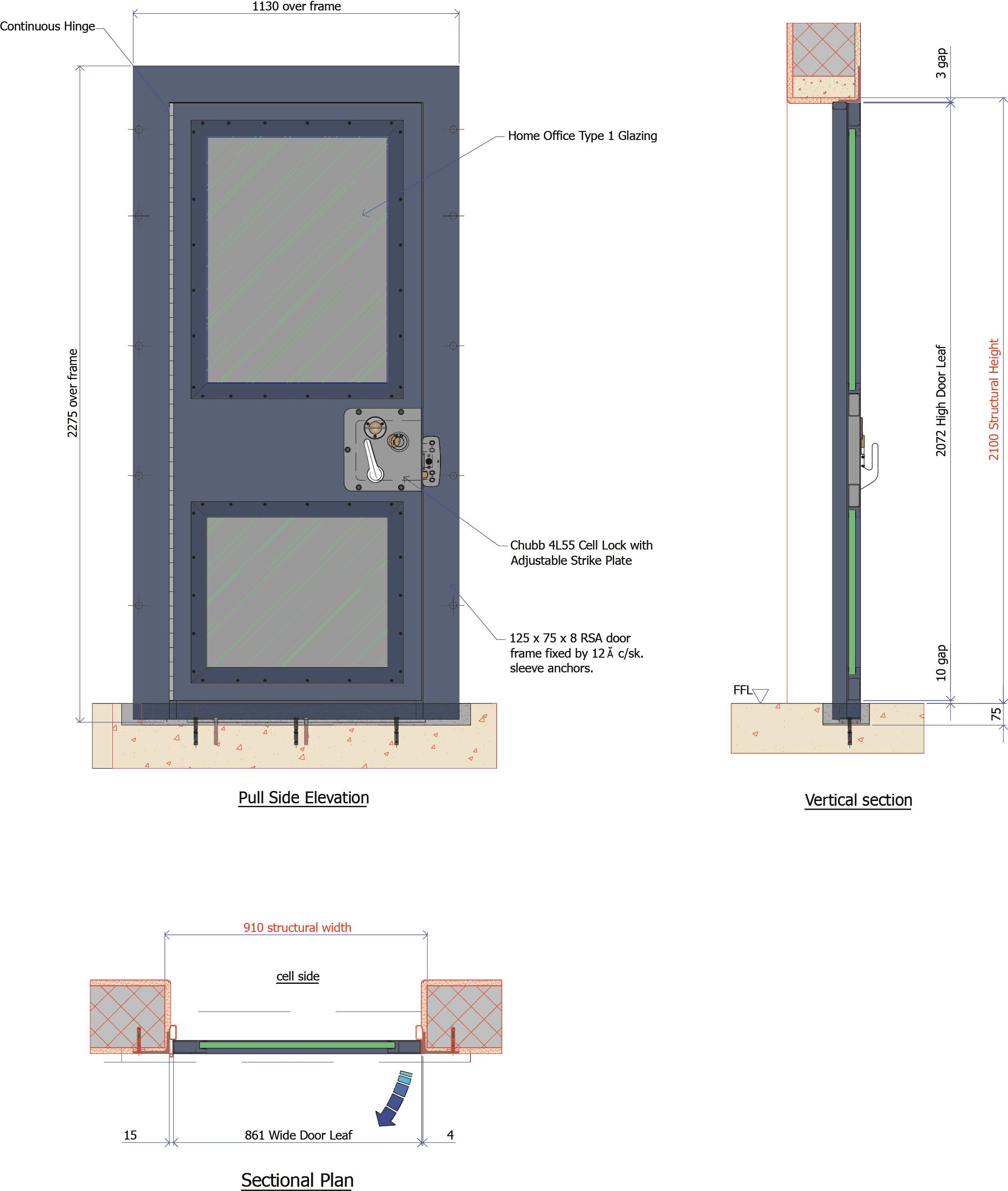 9D003 - Observation Cell Door