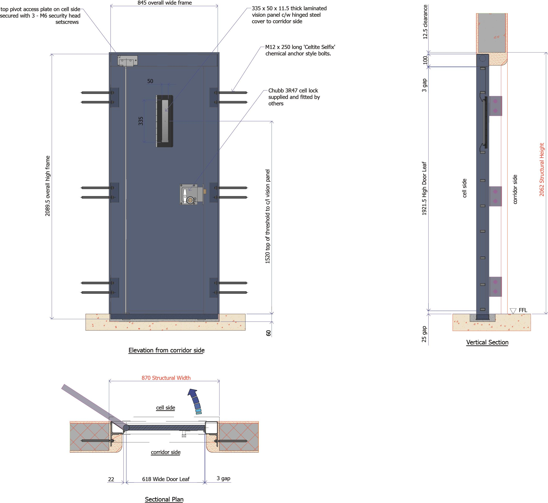 9D006 - Court Cell Door
