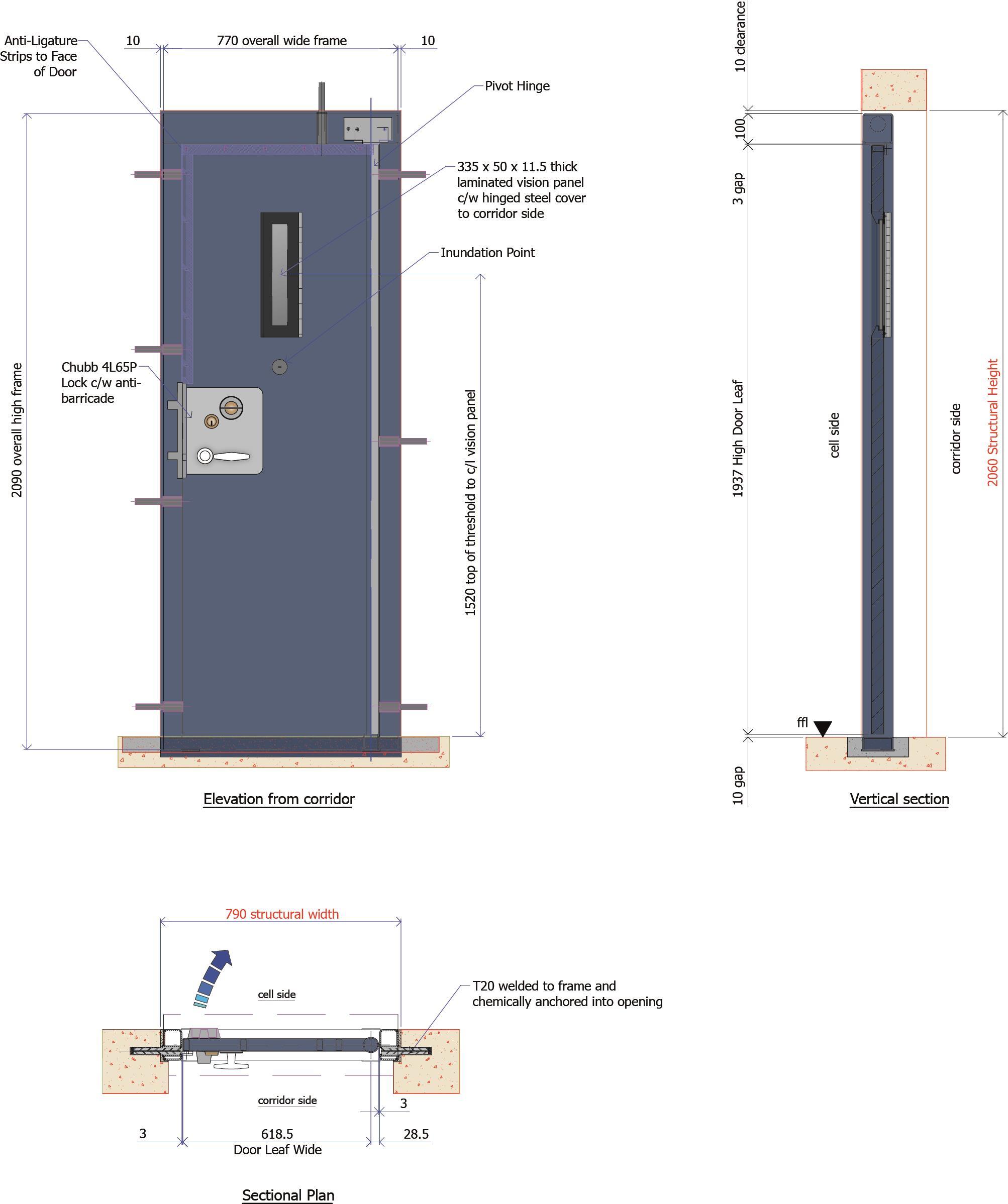9D008 - Prison Cell Door