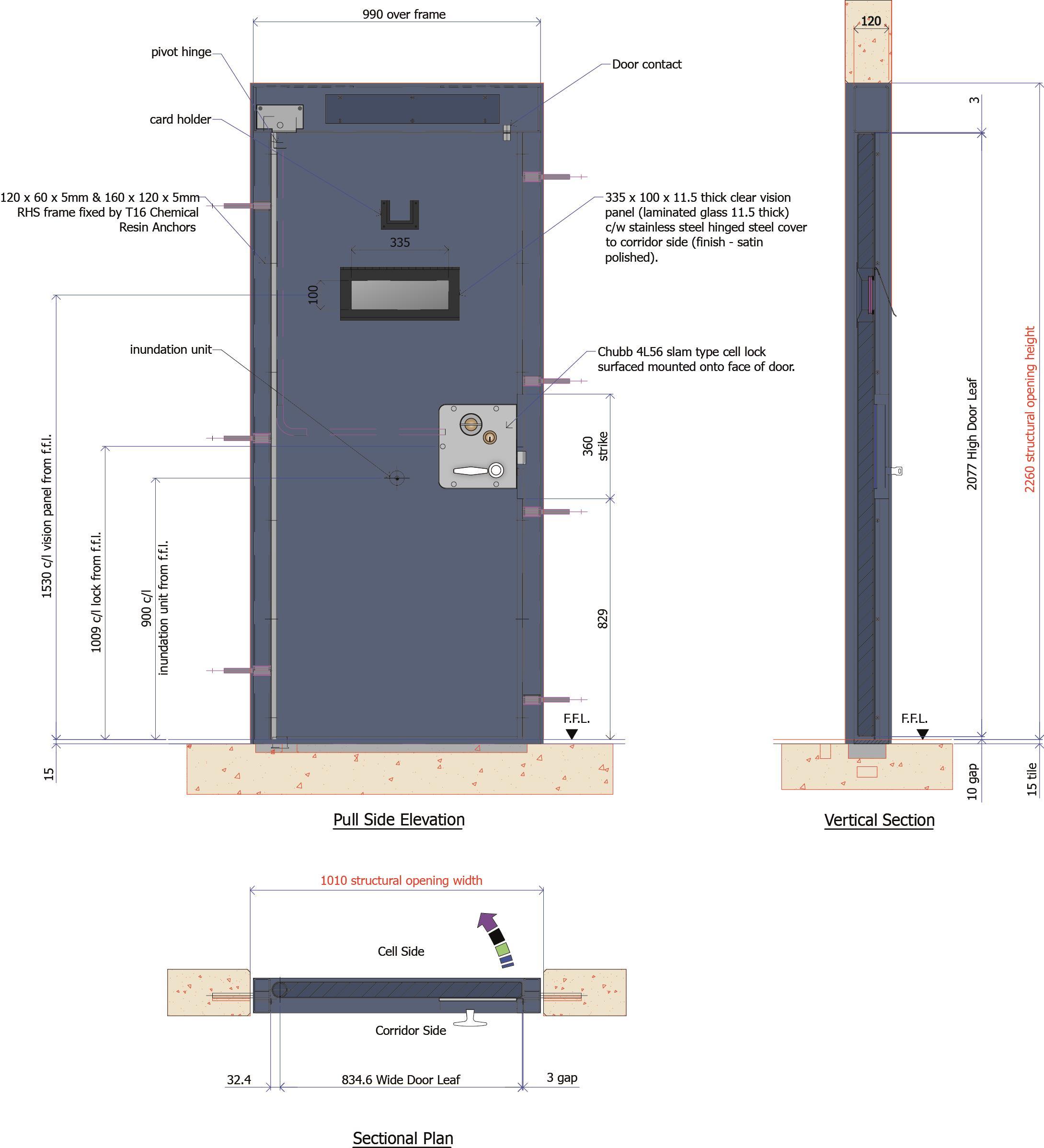 9D009 - Irish Prison Cell Door