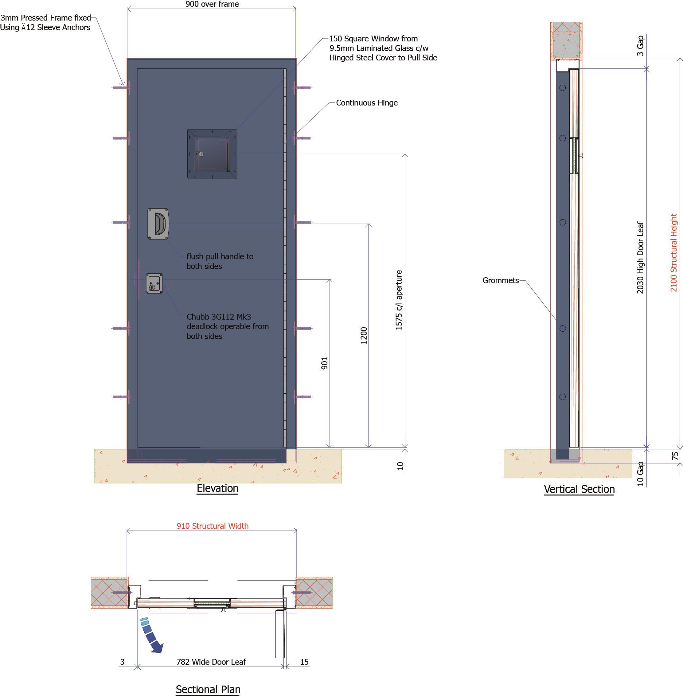 9D015B - Police Surgeon/Medical Room Door