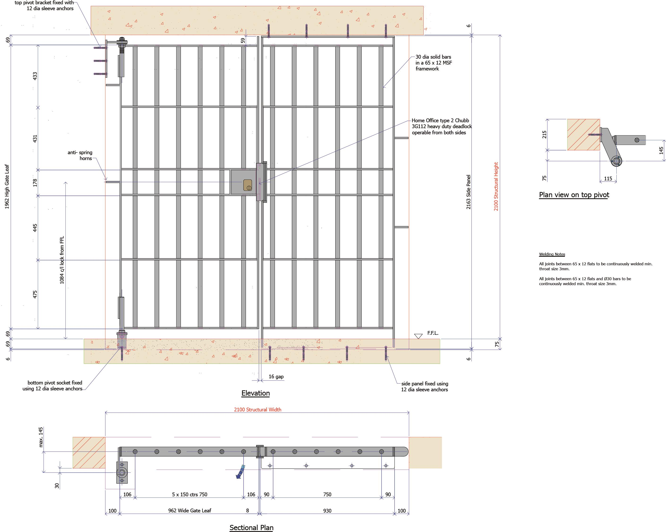 9G001B - Heavy Duty Gate with Side Panel