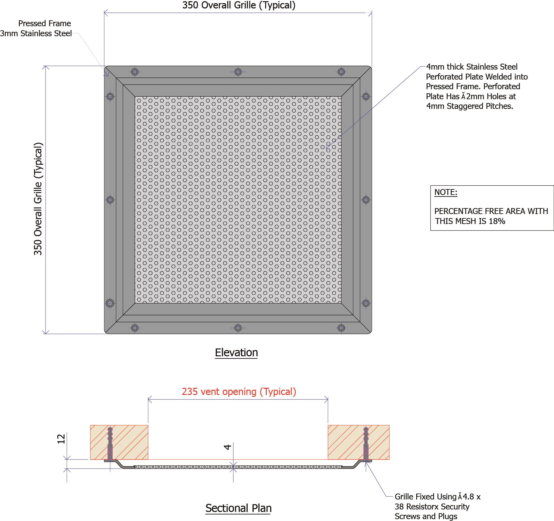9F003 - Cell Ventilation Grille