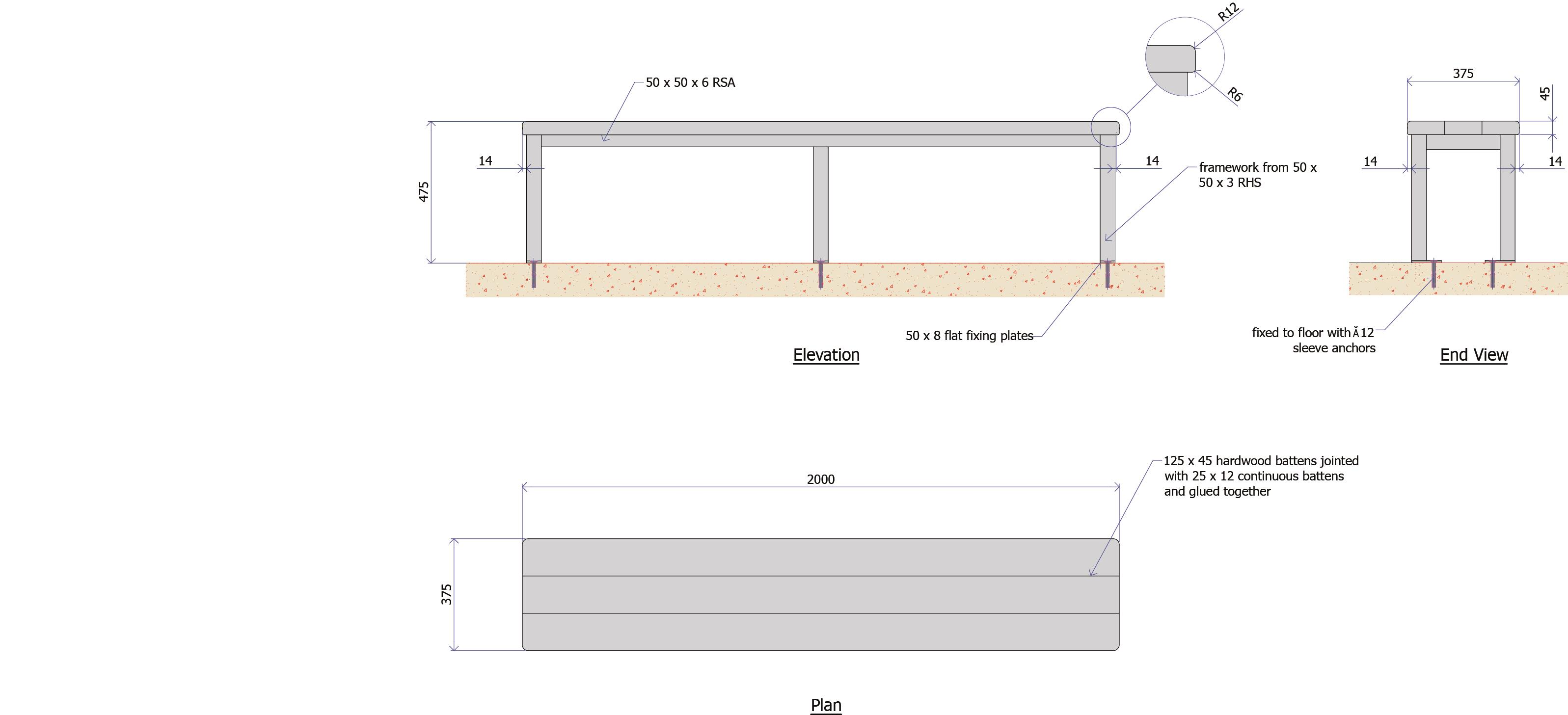 9F008F - Timber Waiting Bench