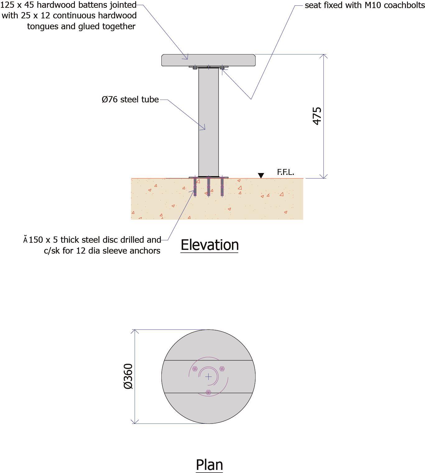 9F008B - Timber Seat Stool