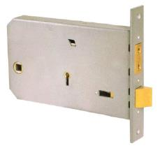 3J60 - Horizontal 2 bolt mortice lock