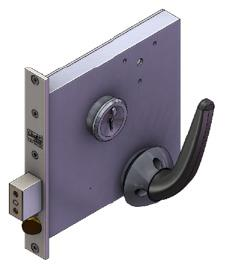 3F56 - Heavy duty morticed mechanical slam action cell lock