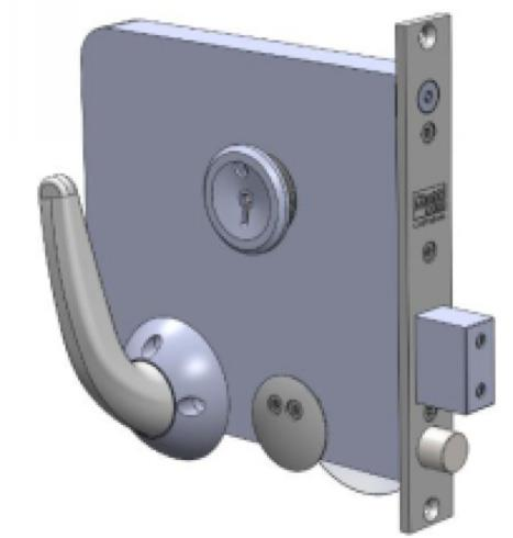 3F65P - Morticed Mechanical Privacy Lock - Monitored