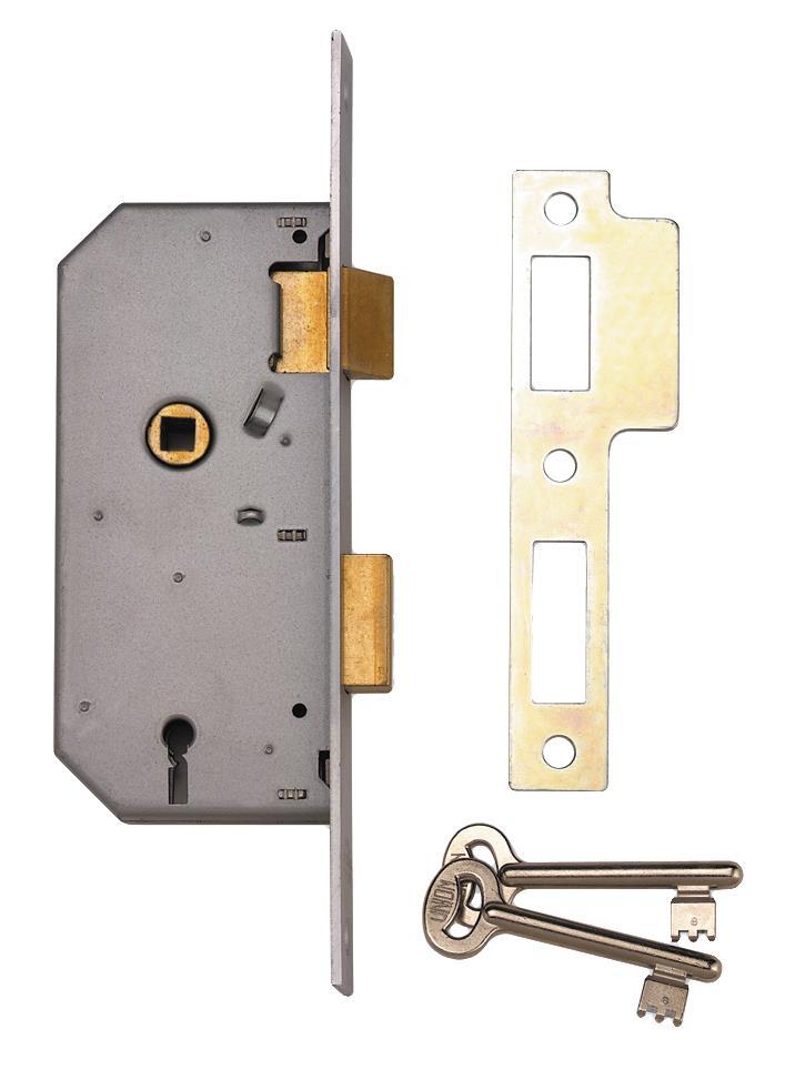 2288 - 3 Lever Double Throw Mortice Sash Lock