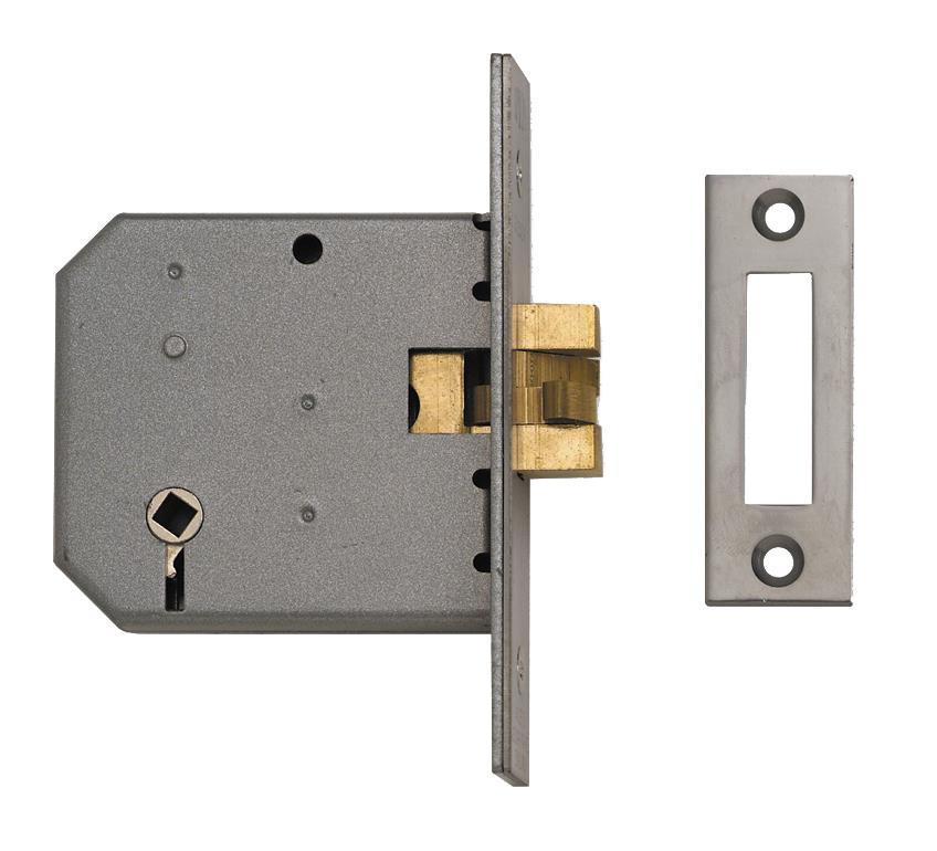 2426 - 3 Lever Sliding Bathroom Lock