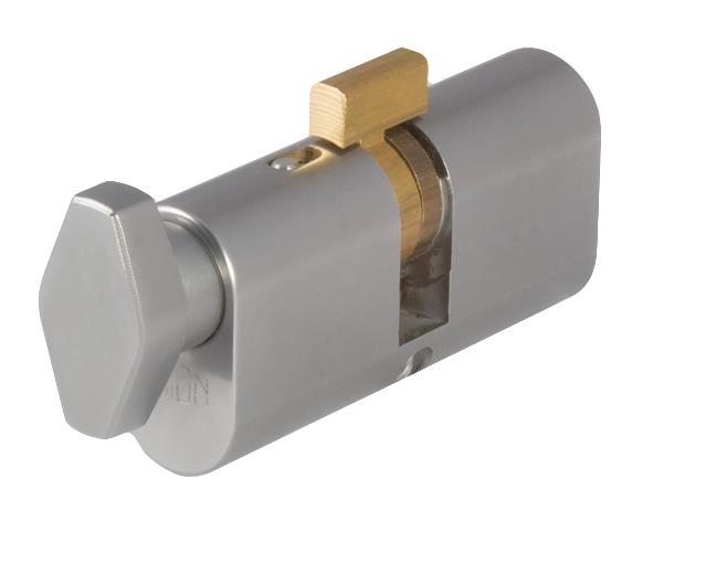 2X51 - Oval Profile Key & Turn Cylinder  - Hotel Function