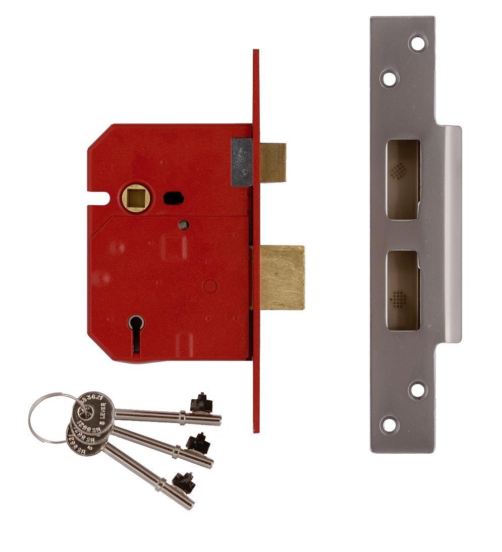 2234E - 5 Lever BS 3621:2007 Mortice Sash Lock